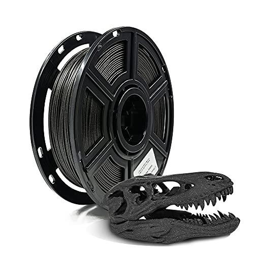 Flashforge PLA Galaxy 1.75mm 3D Filamentos para impresora (Galaxy Mate Negro, 0.5kg)