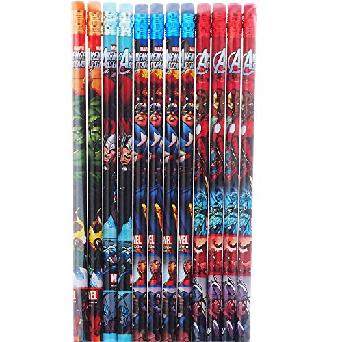 Marvel Avengers 12 Wood Pencils Pack