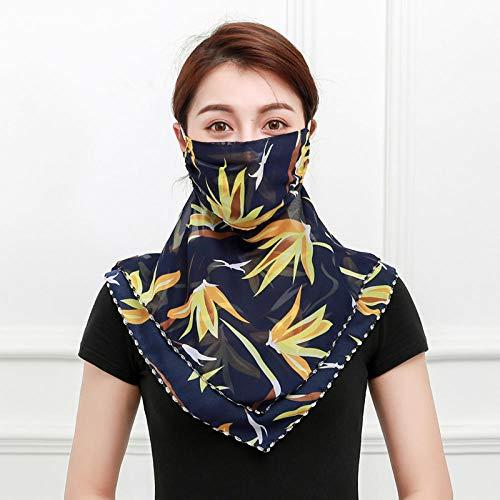 Multifuncional Pasamontañas Hood Mascarilla de Damas Máscara Ciclismo Contra de Mujer Patrón Floral Amarillo Máscara de La Gasa Bufanda Pañuelo para Pueden Usar Como Polainas Para El Cuello, Pañuelos,