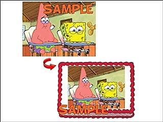 Spongebob & Patrick Cake Topper Sugar Sheet