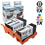 LD Compatible Ink Cartridge Replacement for Dell Series 24 High Yield (1 Black, 1 Color, 2-Pack)