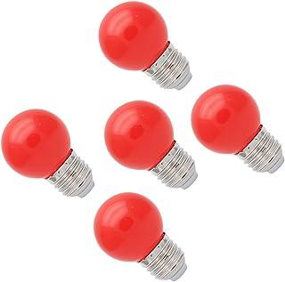 5X E27 Bombilla de Color 1W Bombilla Rojo Color Bombilla LED 100LM Ahorro de Energía Conveniente para Decoración Bulbo Llevado AC 220V