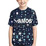Rafa-Vamos-Rafael-Nadal Camisetas de algodón para niños Camiseta Estampada en 3D para niños pequeños Camiseta Casual de Manga Corta para niños