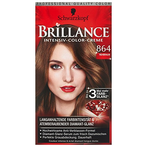 Schwarzkopf Brillance Coloration Stufe 3, 864 Rehbraun, 143 ml
