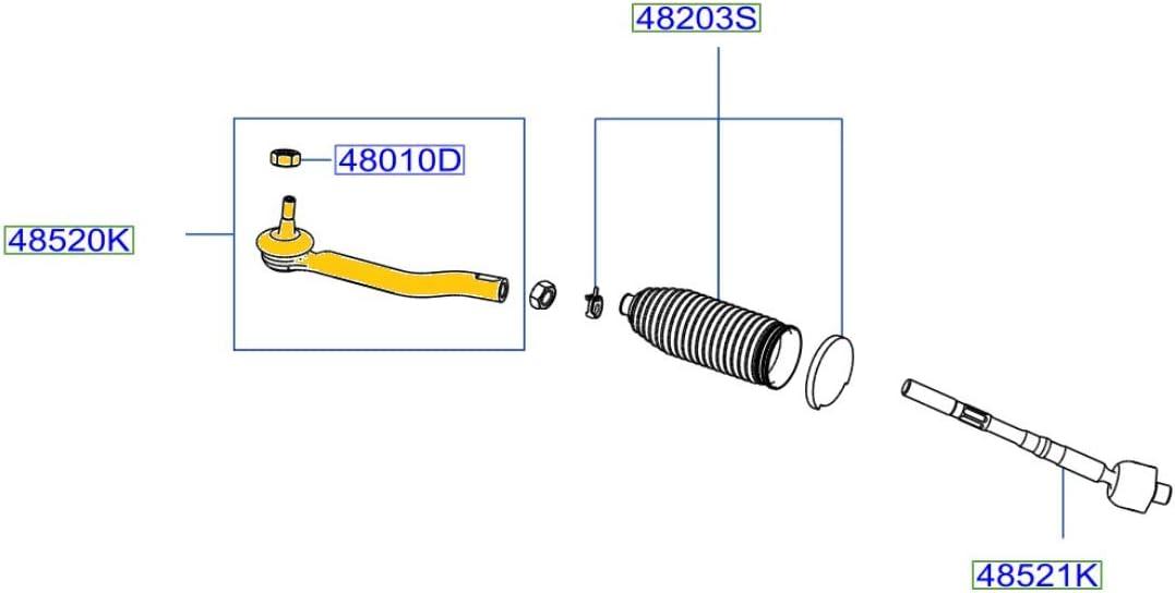 Genuine Nissan Gifts Parts - Socket-Kit D8640-3KA0B Side Outer Rod Surprise price