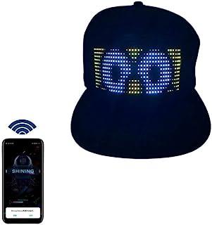 Multi-Language Bluetooth LED Smart Cap, Customized Bluetooth Hat Mobile APP Control Editing LED Display Hat Led Lamp Word...