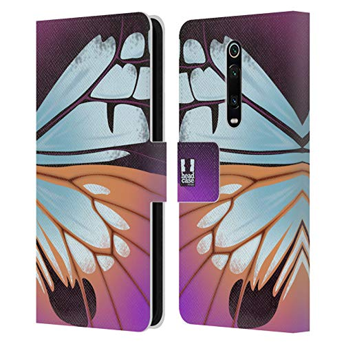 Head Case Designs Parantica Sita Illustrated Butterfly Wing Leather Book Wallet Case Cover Compatible for Xiaomi Redmi K20 / Pro