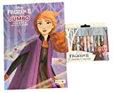 Disney Frozen 2 Anna Coloring and Activity Book Bundle with Frozen 2 Jumbo Crayons
