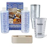 Alumilite Amazing Clear Cast Resin, 20x Disposable Graduated Clear Plastic Cups, Pixiss Mixing Sticks Bundle