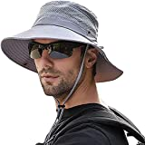 Men Women Sunscreen Cooling Hat Ice Cap Heatstroke Protection Cooling Cap Wide Brim Sun Hat with UV Protection Grey