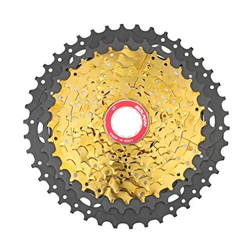 YUONG Rueda Libre de 10 velocidades para Bicicleta de montaña Cassette de 10 velocidades relación de Engranaje MTB Rueda de Volante Bicicleta de Carretera Shimano Sram