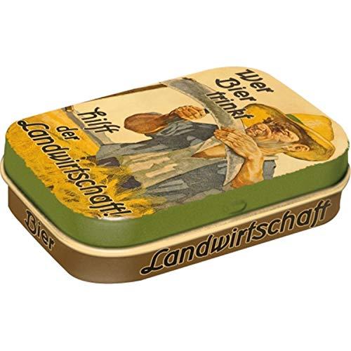 Nostalgic-Art 81234, Bier & Spiritousen, Wer Bier trinkt hilft der Landwirtschaft, Pillendose