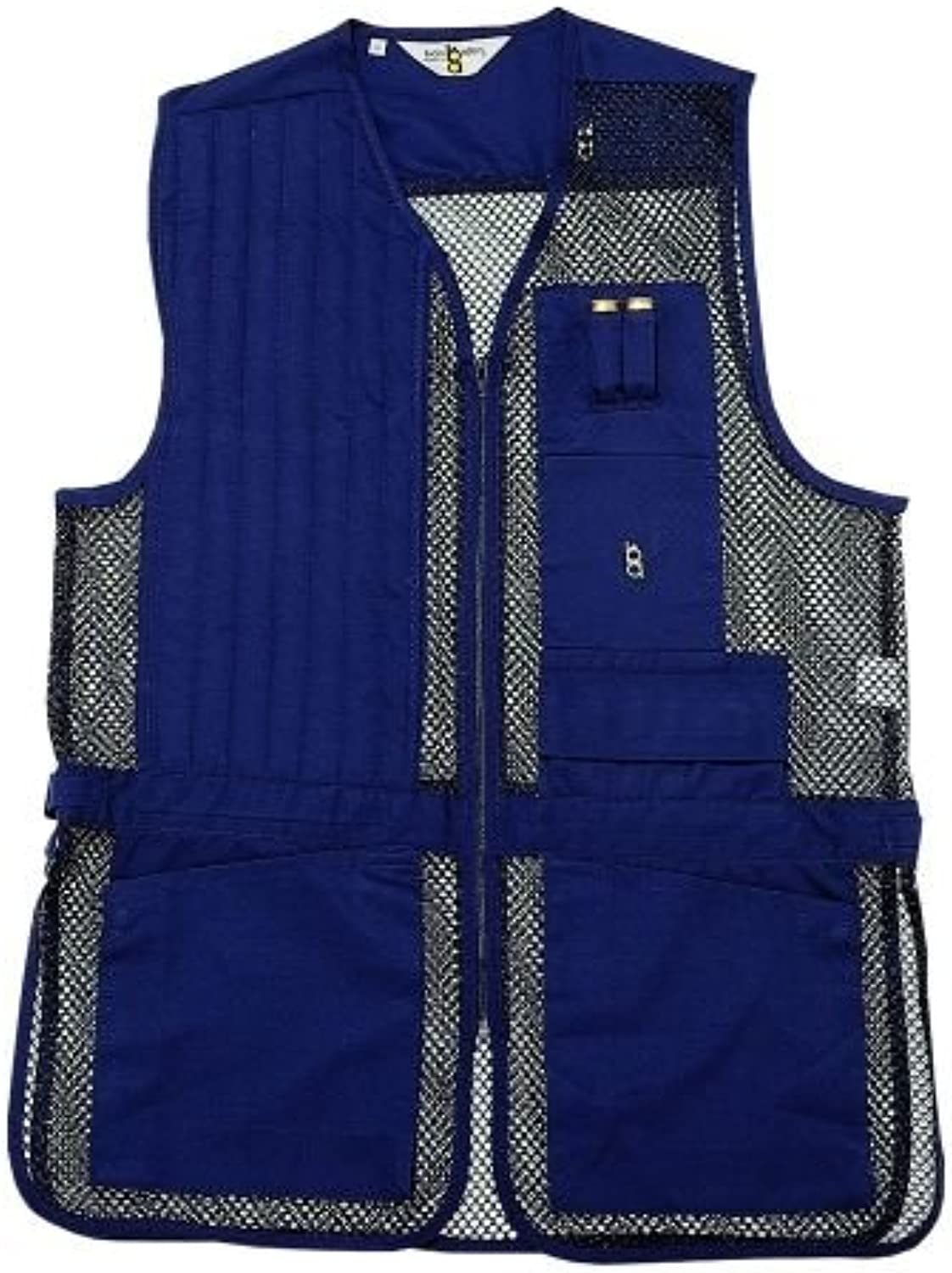 BobAllen 30259 Shooting Vest, Left Handed, Navy, XSmall