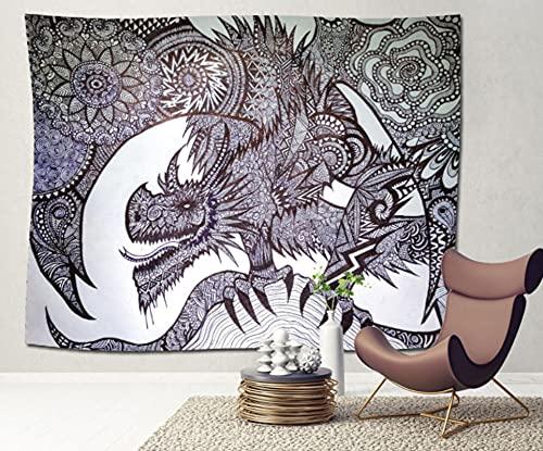 Textura Dragón Tapiz De Pared Paño Colgante Decoración De Pared Tapices Dormitorio Sala De Estar Dormitorio Cortina Toalla De Playa Manta 79X59 Pulgadas