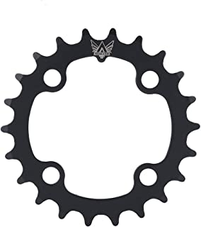 Bike Single Chainring, 22T Carbon Steel Bicycle Narrow Wide Chainring for BCD 104mm 9 Speed Bike