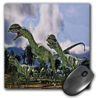 3dRose Mouse Pad Dilophosaurus Dinosaurs Run - 8 by 8-Inches (mp_282331_1) [並行輸入品]