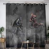 Elliot Dorothy Superhero Vengadores Iron Man vs Batman Cortinas personalizadas con ojales, cortinas opacas para ventana de la habitación de los niños, cuarto de bebé W42 x L72