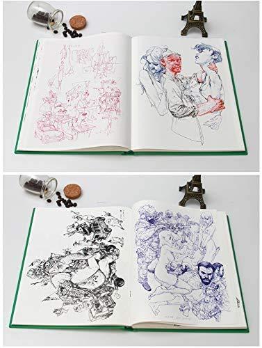 Kim Jung-Gi 2018 Sketch Collection Book Kim JungGi Works Sketch Manuscript Line Drawing Book