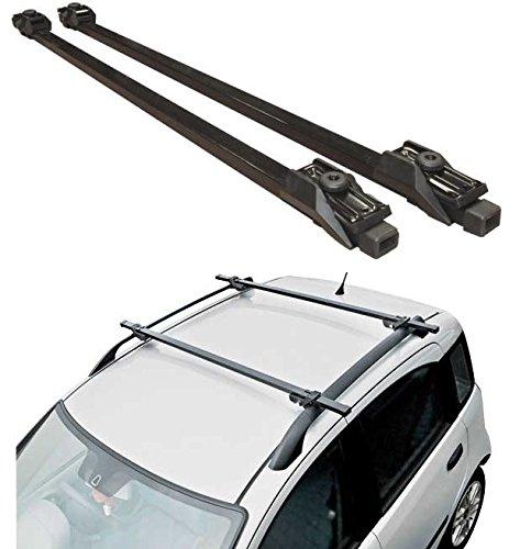 Hardcastle Dachträger fürs Auto - abschließbar als Diebstahlschutz - Schwarz - 130 cm