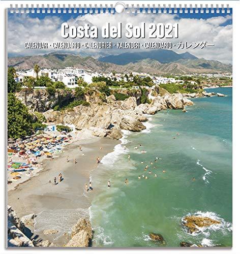 ERIK - Calendario Turístico Mediano 2021 Costa del Sol, 22,5 x 24 cm