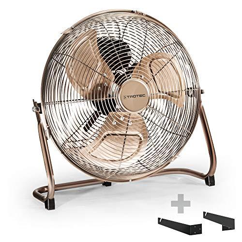 TROTEC TVM 13 Bodenventilator Kupfer Design Ventilator/Windmaschine inkl. Wand- und Deckenhalterung