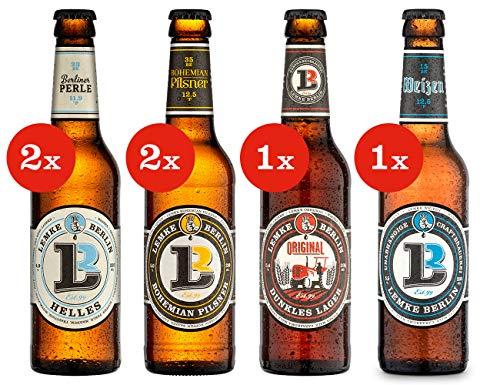 LEMKE Berlin Die klassischen Vier | Mix-Paket deutsche Biere, Bier Box (6 x 0,33l)