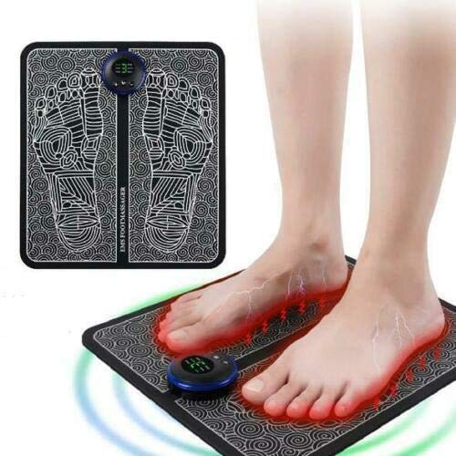 JUYAN EMS masajeador de pies remodelador de piernas, máquina masajeadora de circulación de pies, promueve la circulación sanguínea, Alivio del Dolor Muscular (Batería)