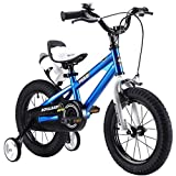 Bicicleta de Bicicleta Royalbaby Unisex, Estilo Libre, para niños y niñas, Color Azul, 14 Pulgadas