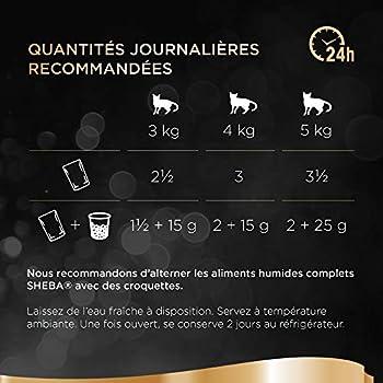 Sheba Mini Filets en sauce pour chat adulte – Nourriture humide pour chats - sélection aux poissons – Sachets fraîcheur 48 x 85g
