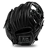 Franklin Sports Baseball Fielding Glove - Men's Adult and Youth Baseball Glove - CTZ5000 Black Cowhide Infield Glove - 11.5' I-Web for Infielders