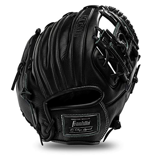 """Franklin Sports Baseball Fielding Glove - Men's Adult and Youth Baseball Glove - CTZ5000 Black Cowhide Infield Glove - 11.5"""" I-Web for Infielders"""