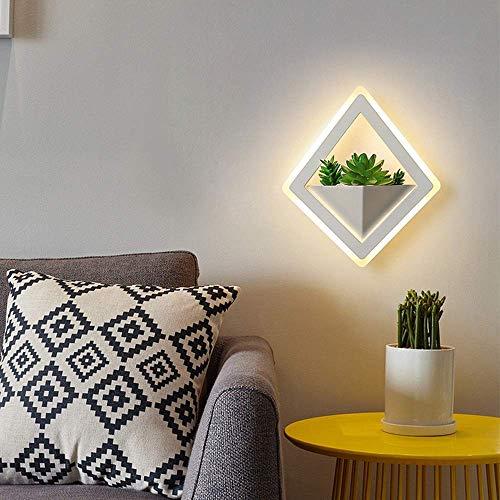 Mkjbd Wandlamp tuinlamp wandlamp wandlamp wandlamp wandlamp wandlamp wandlamp ruit creatieve bedlamp groene planten wandlamp hoofdlamp