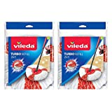 Vileda Balai facile & Clean Turbo 2 en 1 Balai Microfibre recharge Tête – Lot...