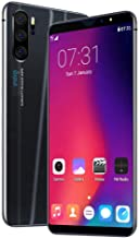 4G Smartphone 6.3in Mega Waterdrop Full Face Screen Fingerprint Android 9 w/Google Play Store DualSIM WiFi GPS GSM Unlocked (Black)