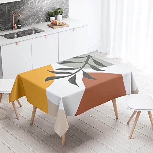 XXDD Mantel Rectangular nórdico para Mantel artístico Abstracto Dejar escandinavo Impermeable Hule decoración Cubierta A2 140x160cm