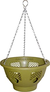 Garden King 12 Inch Plastic Hanging Basket with Strong Chain for Home Garden (1)