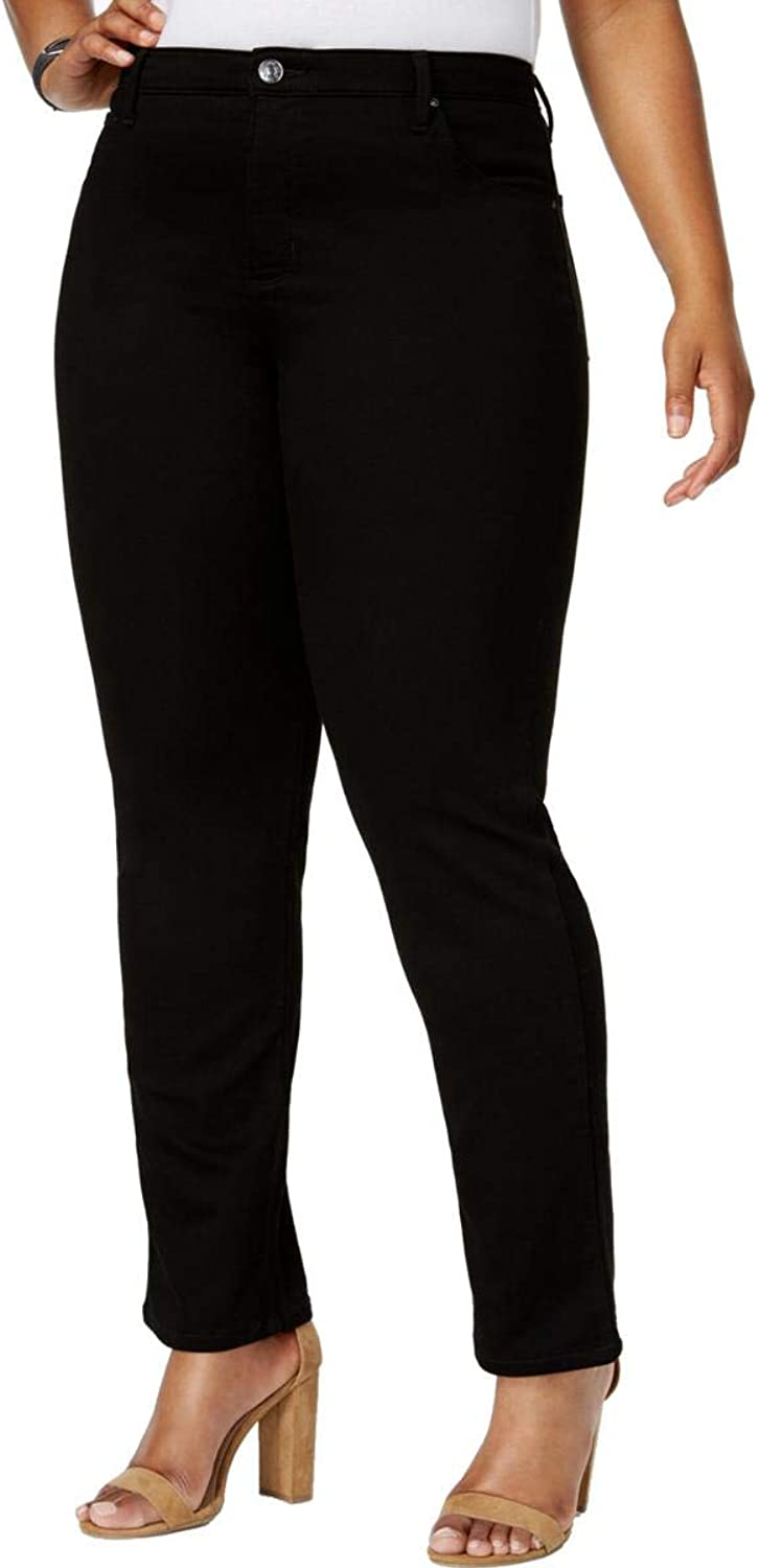 Lee Womens Plus Straight Classic Fit Classic Straight Jeans