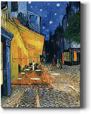Renditions Gallery Cafe Terrace at Night by Vincent Van Gogh Printed Famous Painting Reproduction product image