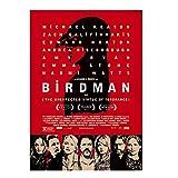 KONGQTE Birdman Movie 2014 Poster und Drucke Wandkunst