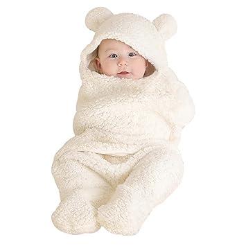 domybest Neugeborene Baby Wickeltuch Soft kurz Pl/üsch Wohndecke Schlafsack