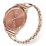 TRUMiRR Rose Gold Watchband for Vivoactive 4S 40mm, 18mm Bling Diamond...