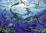 Puzzle de 500 Piezas Para Adultos Rompecabezas de Madera Arte del tiburón dinosaurio del mundo submarino Entretenimiento Juguetes Regalo educativo Decoración moderna para el hogar
