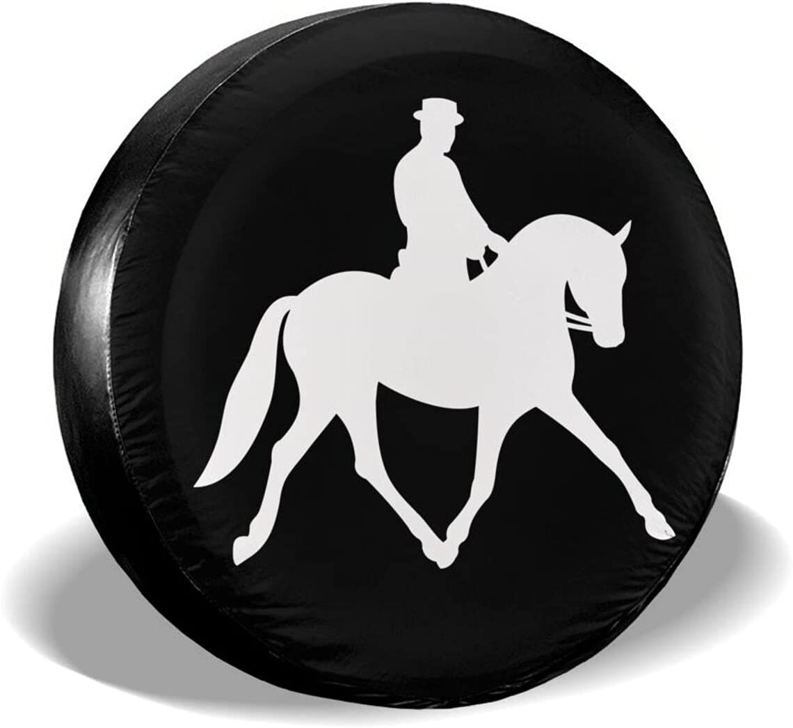 Complete Free Shipping HSXOOW Rider Riding A Dressage All items free shipping Unive Tire Horse Waterproof Cover