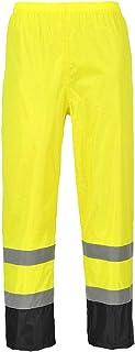 Portwest H444 Pantalone Classic Anti Pioggia Alta Visibilità, Bicolore, Giallo/Nero, 4XL