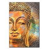 ZMK-720 Pintura al óleo Pinturas Abstractas Cabeza De Buda De Lona Carteles Y Las Impresiones Budismo Pared De Graffiti Arte Impresión En Lona Cuadros De La Pared For Sala De Estar