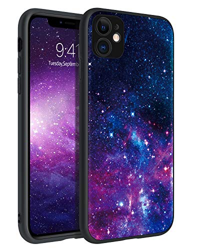 BENTOBEN iPhone 11 Case, Phone Case iPhone 11, Slim Fit Glow in The Dark Soft Flexible Bumper Protective Anti Scratch Non-Slip Phone Cases Cover for Apple iPhone 11 6.1' (2019), Nebula/Galaxy Design