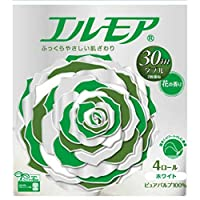 エルモア トイレットペーパー 花の香り ダブル30m×4ロール