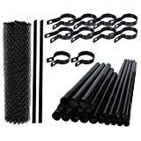 ALEKO Galvanized Steel Chain Link Fence - Complete Kit - 4 x 50 Feet - Black