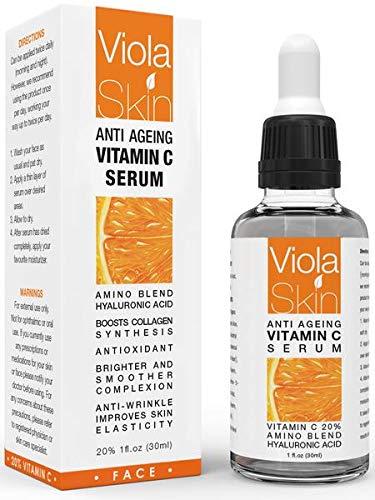 """PREMIUM Vitamin C-Serum für das Gesicht mit Hyaluronsäure-Serum – Klinisch bewiesene Wirkung – Das beste Anti-Agin & Anti-Falten-Serum – Unsere Kunden nennen es """"Ein Gesichtslifting ohne Nadeln""""!"""