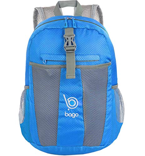 bago 25L Packable Lightweight Backpack - Water Resistant Travel and Hiking Daypack (25-Liter, Blue)